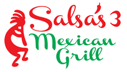 Salsa's 3 Authentic Mexican Restraurant Dine in or Take out Middletown CT Logo